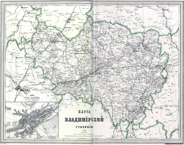 чистой старинные карты владимирской губернии с привязкой подробные производстве термобелья используются